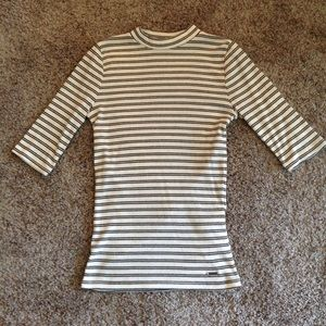 Hollister high neck stretchy T top NWOT